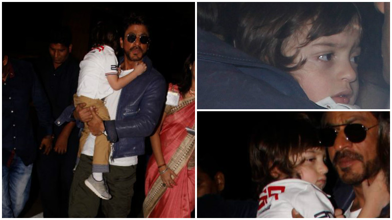 Photos of Shah Rukh Khan protecting AbRam from paparazzi will warm your heart