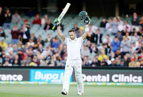 Du Plessis lights up Adelaide