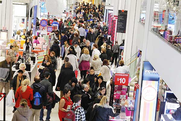 Shoppers hunt for deals during Black Friday sale