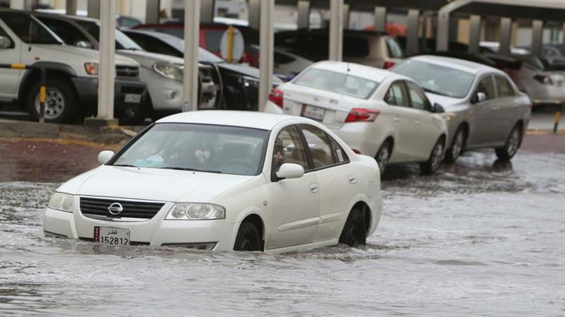 In Pictures: Rain causes widespread flooding in Qatar
