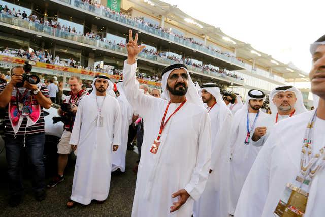 Photos: Dubai ruler attends Abu Dhabi Grand Prix