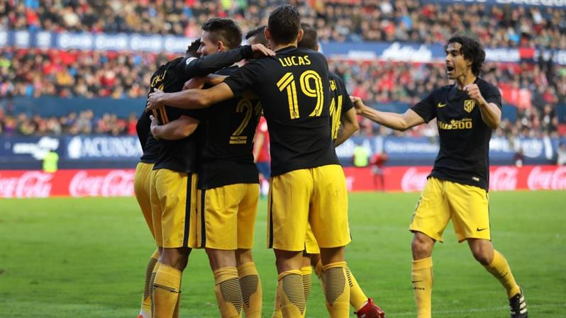 Atletico return to top four with comfortable win at Osasuna