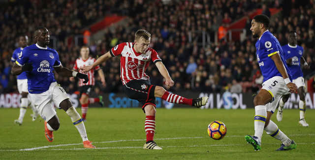 Austin's goal after 41 seconds sees Southampton beat Everton