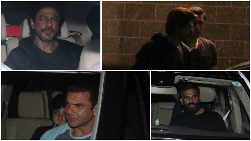Photos: Shah Rukh Khan was partying all night at Salman Khan's house