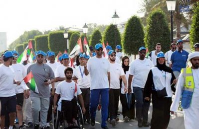 Adnoc staff march to mark 45 years of ops