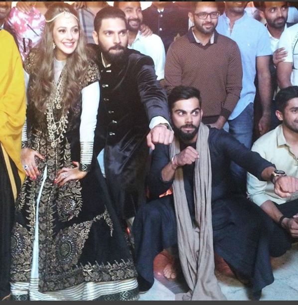 Photos: Indian cricketers have fun at Yuvraj Singh's pre-wedding bash!