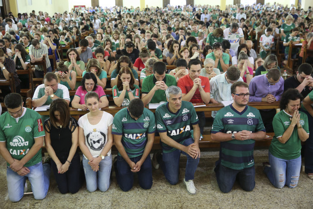 Colombia Plane Crash: Thousands squeeze into church, stadium to mourn