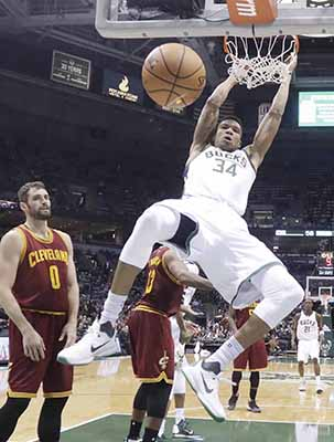 Bucks shock Cavaliers on day of upsets