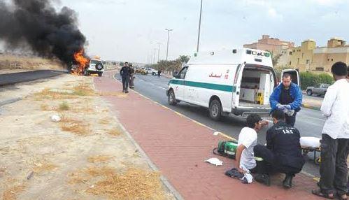 Fire guts car in accident, driver unhurt