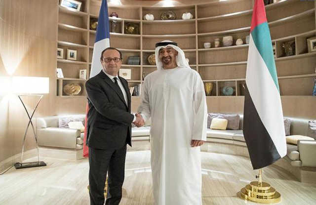 PHOTOS: Abu Dhabi Crown Prince meets French President