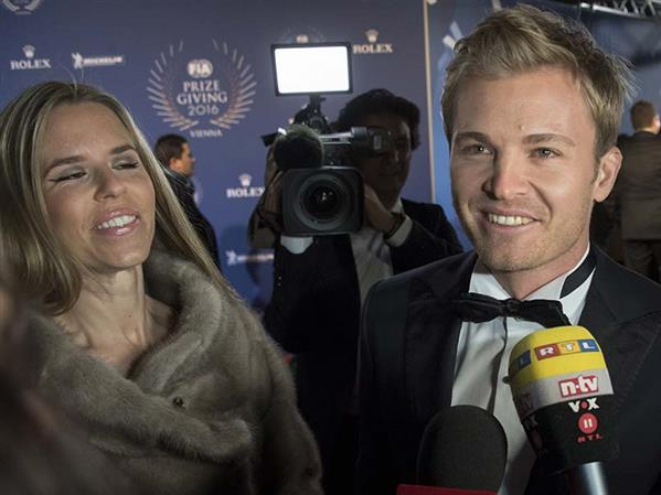 Emotional Rosberg receives F1 championship trophy