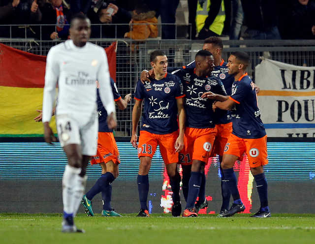 Ligue 1: Montpellier upsets Paris Saint-Germain, Falcao scored twice for Monaco.