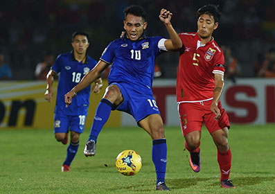 Thais triumph over Myanmar with Teerasil double