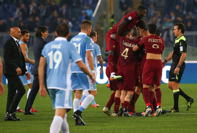 AS Roma pounce on errors to win hot-tempered derby