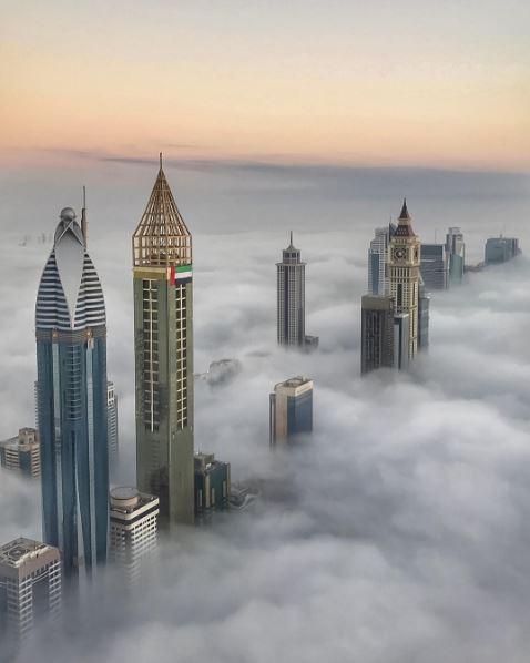 Dubai Crown Prince posts INCREDIBLE photos of heavy fog