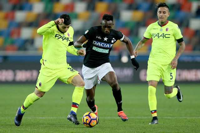 Udinese beats Bologna 1-0 in Serie A
