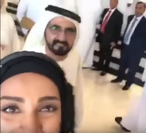 WATCH: Dubai ruler photobombs woman's selfie