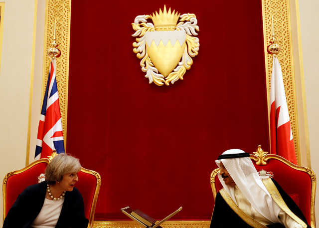 Bahrain News British PM joins Gulf summit for postBrexit trade talks