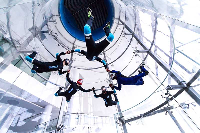 Free indoor skydiving