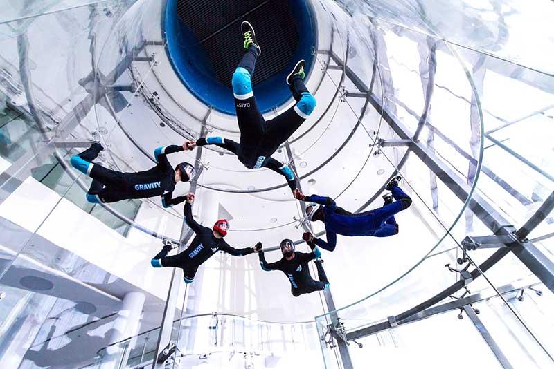 Free indoor skydiving