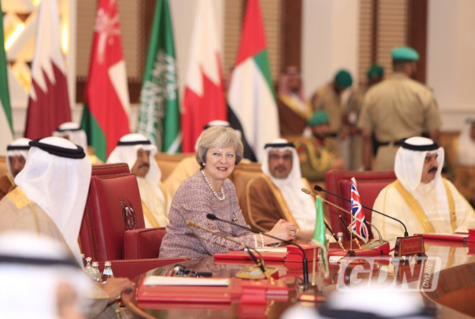 PHOTOS: Britain will help Gulf 'push back' against Iran aggression, says May