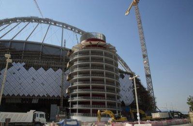 Qatar World Cup stadium roof work nears completion