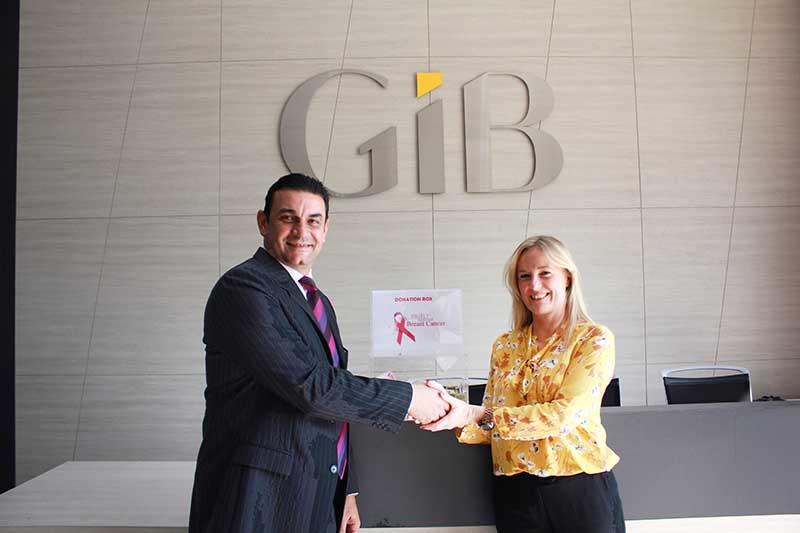 GIB donates $22,000 to Think Pink