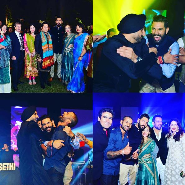 Pictures of Yuvraj Singh-Hazel Keech's sangeet celebration in Delhi