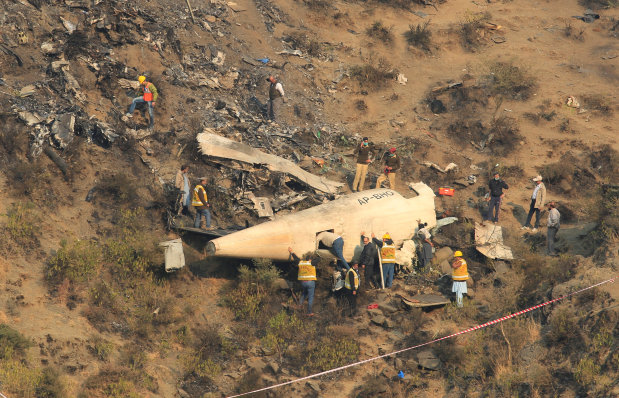 PHOTOS: Pakistan opens probe into deadly plane crash that killed 47