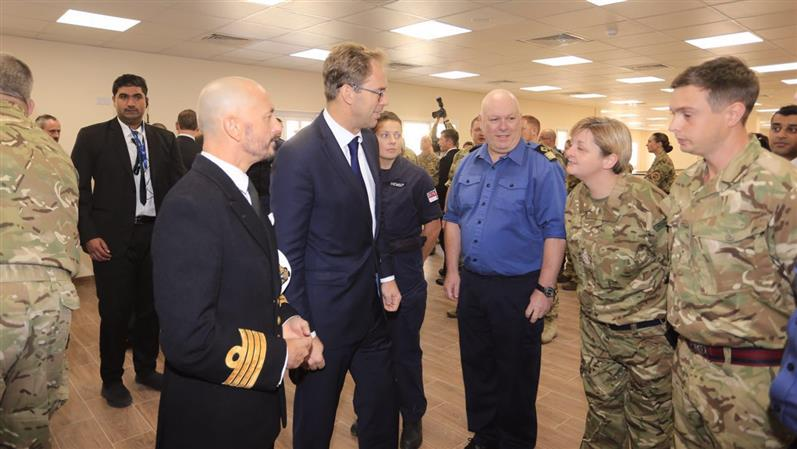 In Pictures: UK Minister visits HMS Juffair