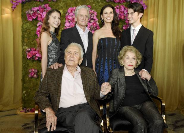 PHOTOS: Inside Kirk Douglas's intimate 100th birthday celebration
