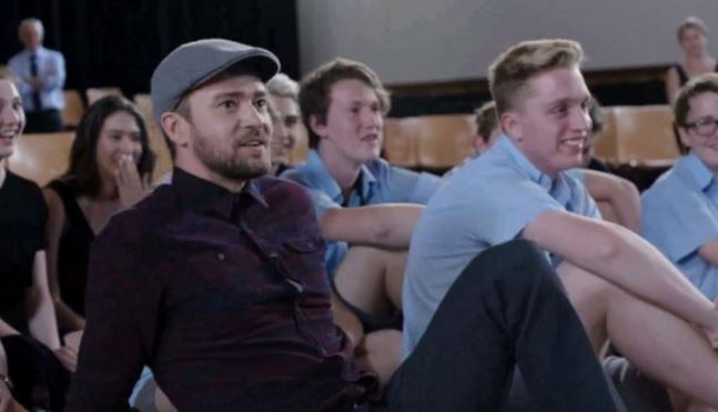 Justin Timberlake surprises students with secret class