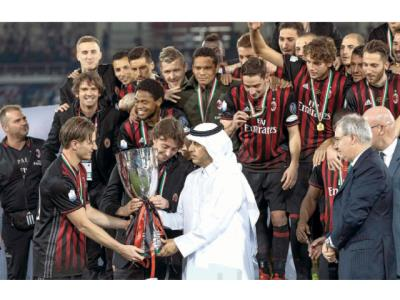 Qatari Premier attends Italian Super cup