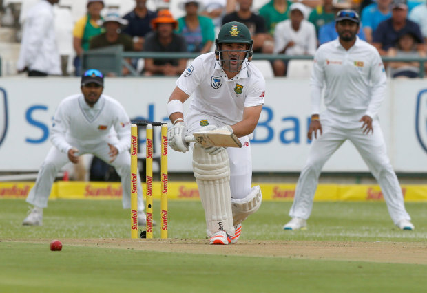Elgar ton props up South Africa