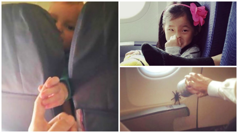 Photos: Weird things people do on airplanes!