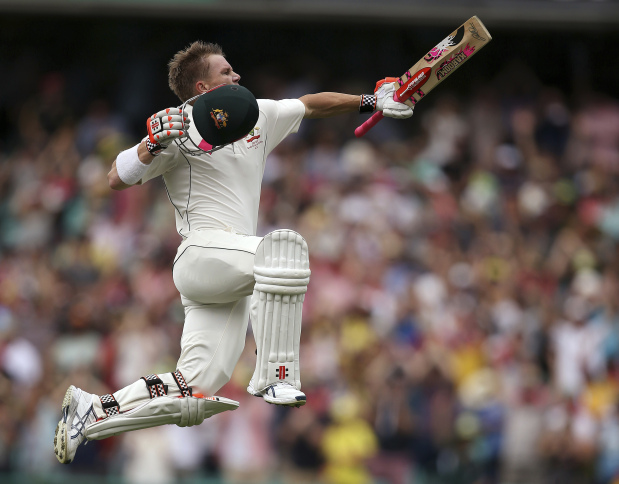Aussies run rampant with Warner ton