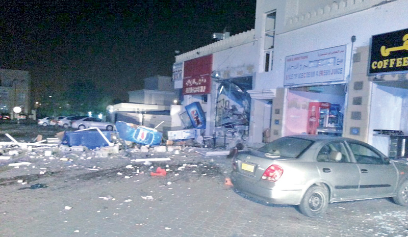 Gas cylinder blast damages restaurant in Muscat