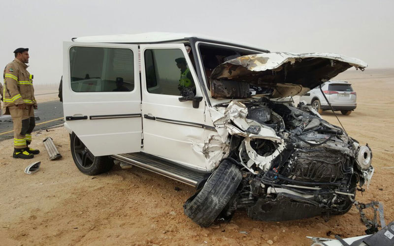 Emirati man dies in car crash due to thick fog