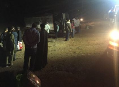 Dozens of pilgrims injured as bus overturns