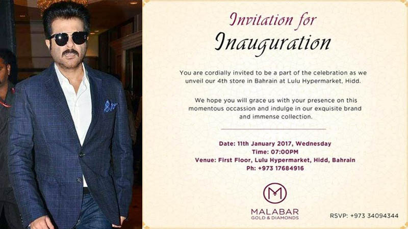Anil Kapoor to inaugurate Malabar Gold & Diamond's new store in Hidd
