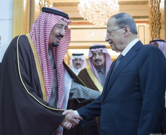 Saudi king in talks with Lebanese president