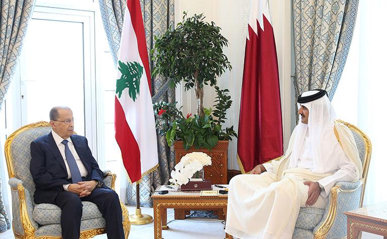 Qatari, Lebanese leaders hold talks
