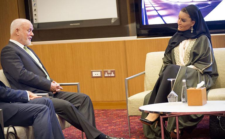 Shaikha Moza meets UNGA President
