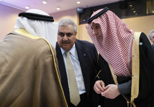 Bahrain FM attends mideast peace talks with world diplomats