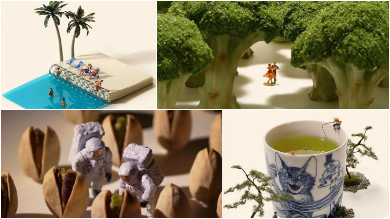 Japanese artist creates beautiful dioramas every day, for five years now