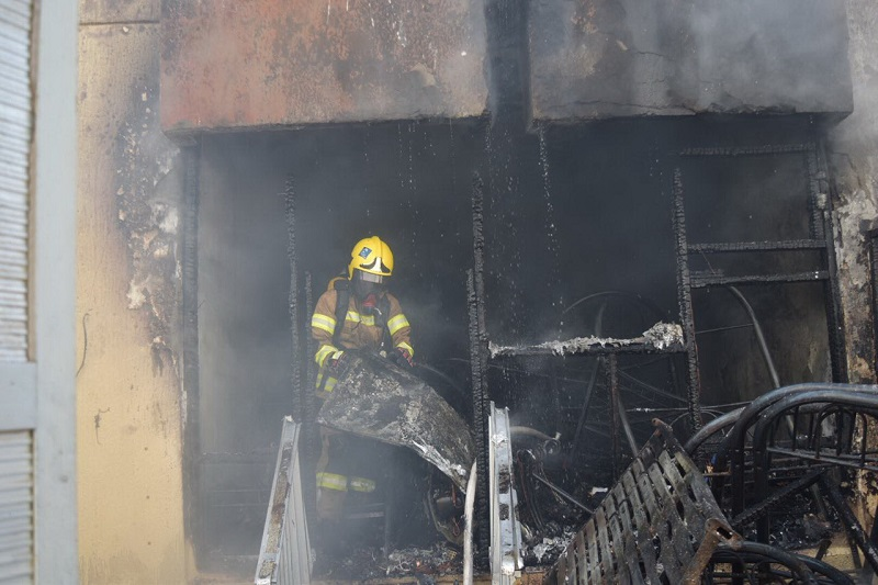 Fire guts house in Abu Dhabi, six rescued