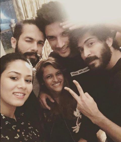 Photos: Shahid & Mira Kapoor, Sushant and Harshvardhan party together