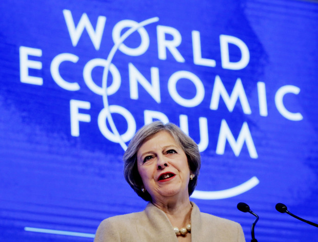 Theresa May seeks to convince business of a 'global Britain'