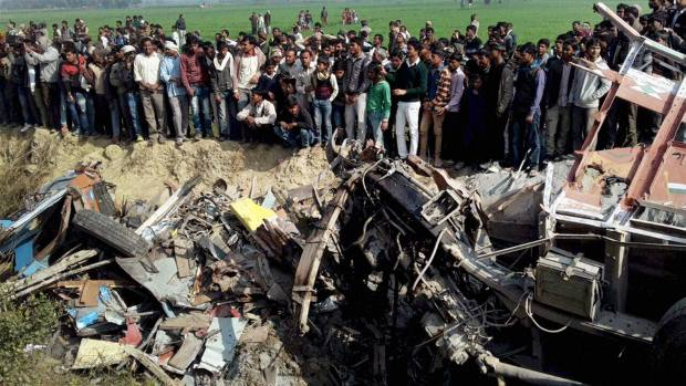 India: At least 24 children killed as bus, truck collide in Lucknow