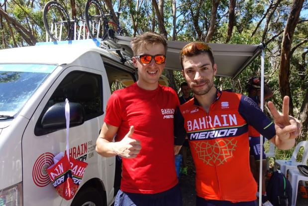 Bahrain team cyclists shine Down Under